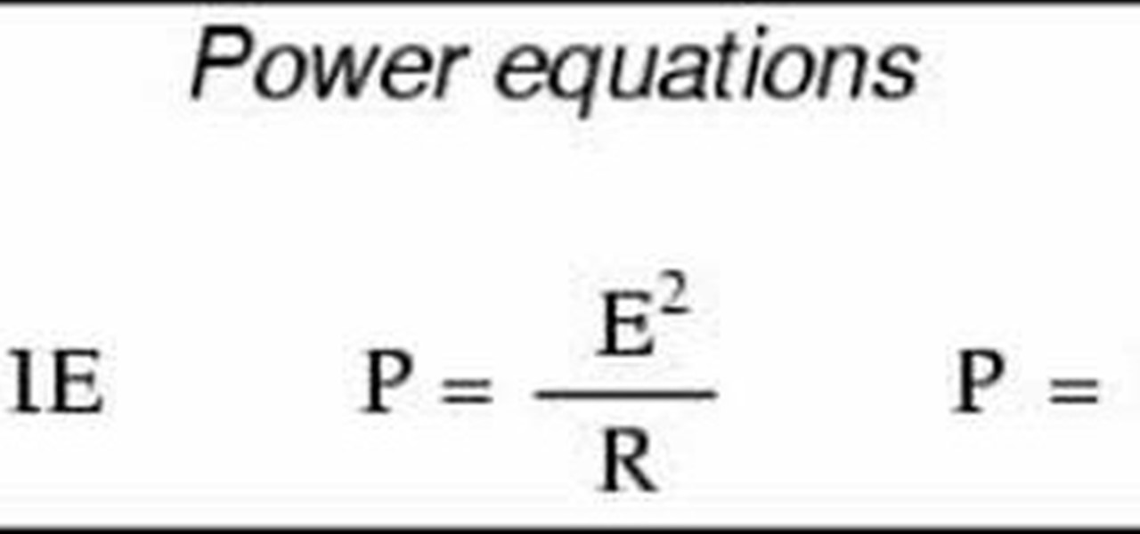 How do you calculate electrical power