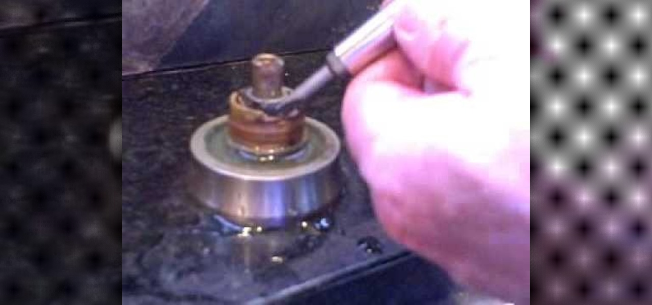 how to fix a faucet leaking from around