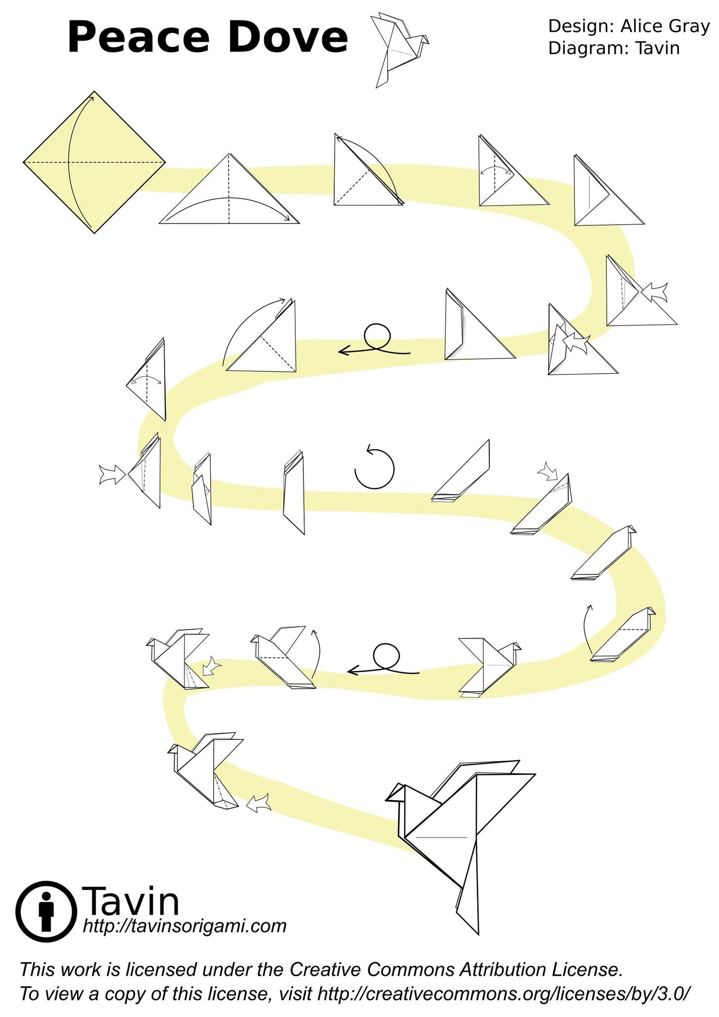 origami dove diagram yamaha g2 golf cart wiring fold a peace from sheet of paper  tavin 39s
