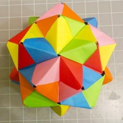 Cool Modular Origami Diagram Sun Path Of Delhi How To Make A Cube Octahedron Icosahedron From Sonobe Units