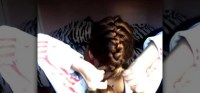 How to Simply French braid your own hair easily ...