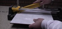 How to Cut ceramic floor and wall tile with a tile cutter ...