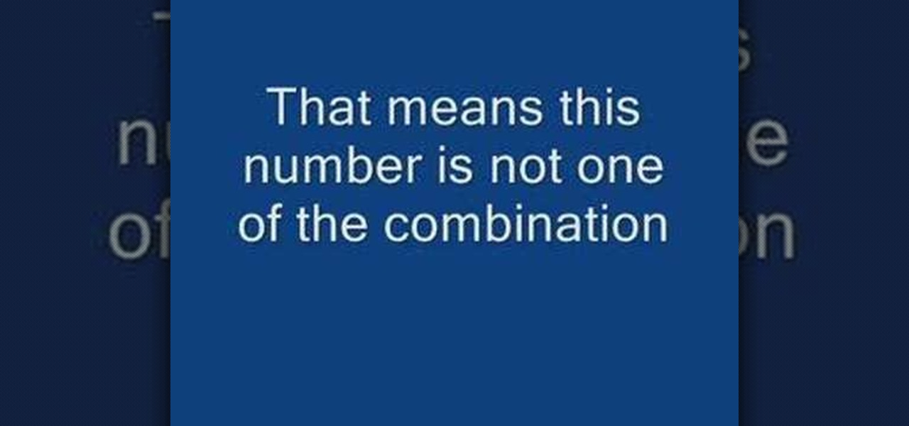 How to Find the numbers to open a combination pad  Cons