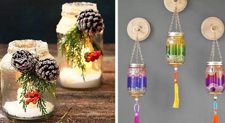 Come fare le lanterne natalizie con i barattoli di vetro: 19 Idee Fantasiose Ed Economiche Per Riutilizzare I Barattoli Di Vetro A Natale E Non Solo Creativo Media