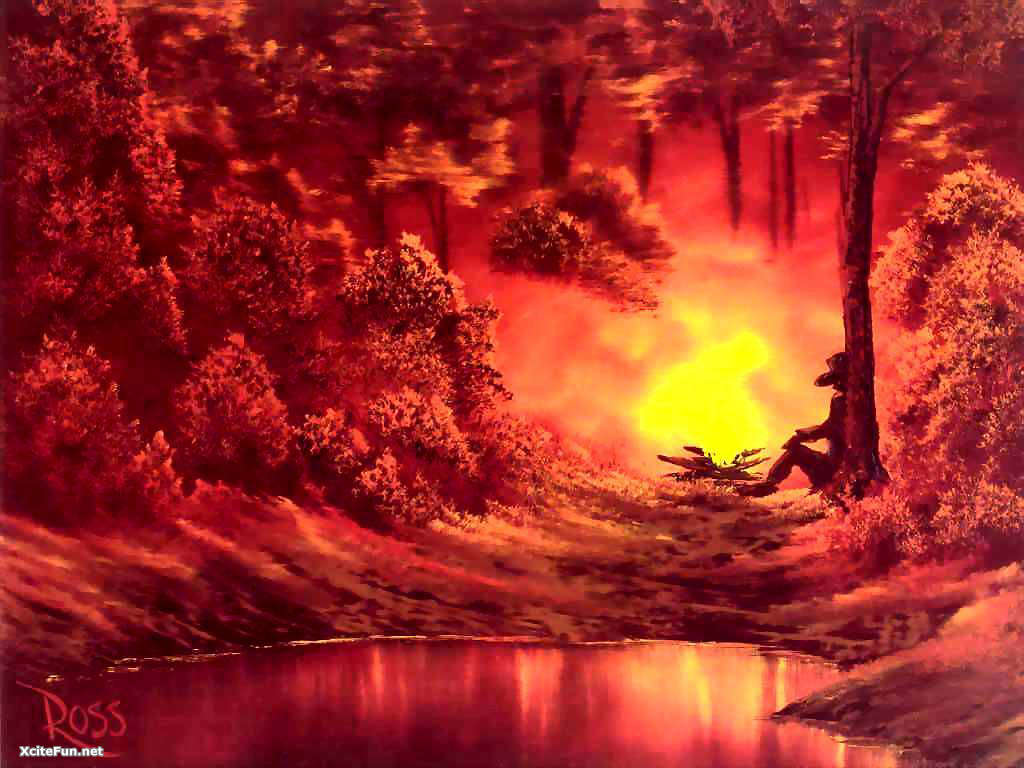 Awesome Cute Wallpapers For Android Bob Ross Paintings Beautiful Xcitefun Net
