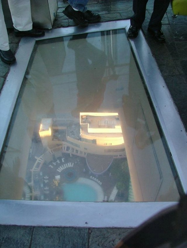 Glass Floor on Top of Building