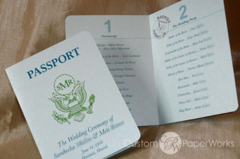 Wedding Passport Funny Invitation Cards