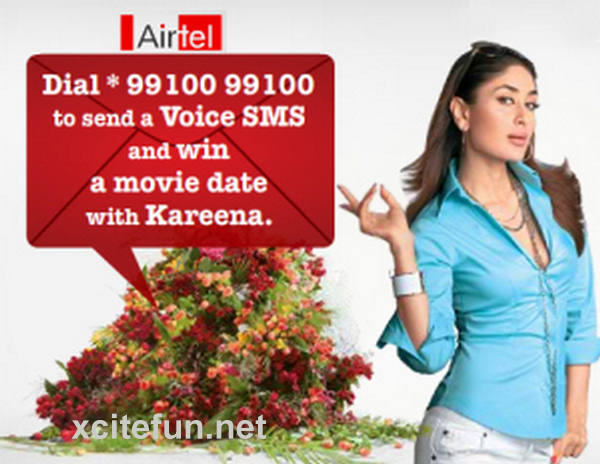 Cute Nature Wallpapers With Quotes Kareena Kapoor Airtel Print Ads Xcitefun Net