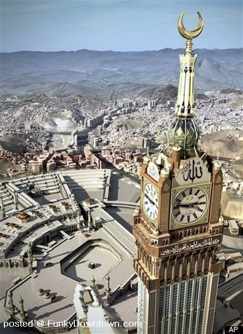 WORLDS LARGEST CLOCK IN HOLY CITY OF MECCA