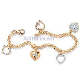 Diamond Gold Bracelets For Girls