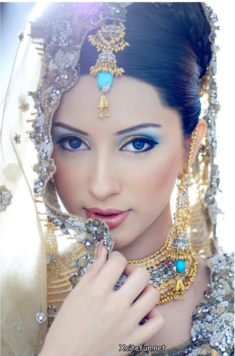 Latest Bridal Makeup Trend and Jewelry  Khawar Riaz Bridal  XciteFunnet