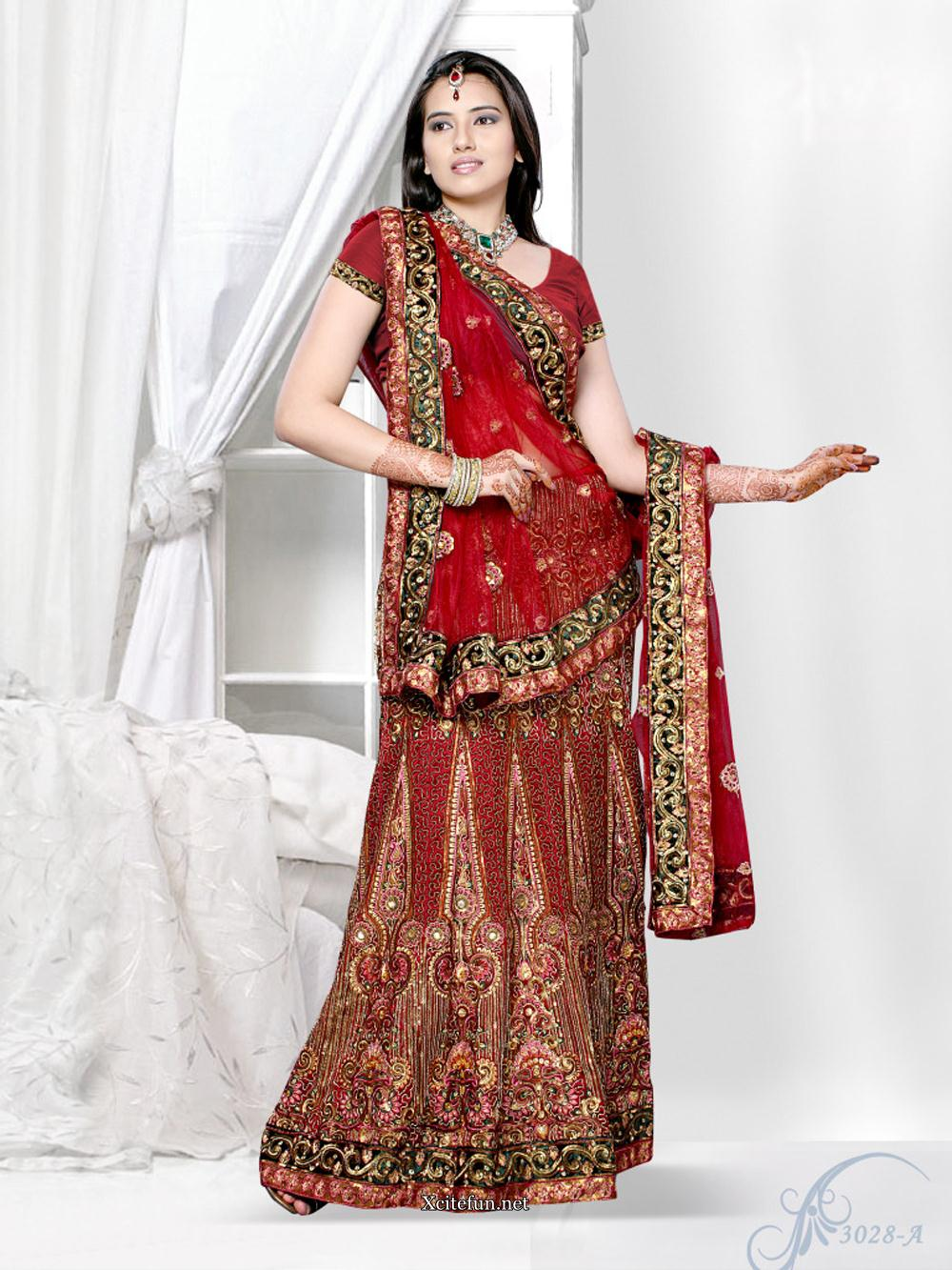 Bridal Red Lehenga Choli  XciteFunnet