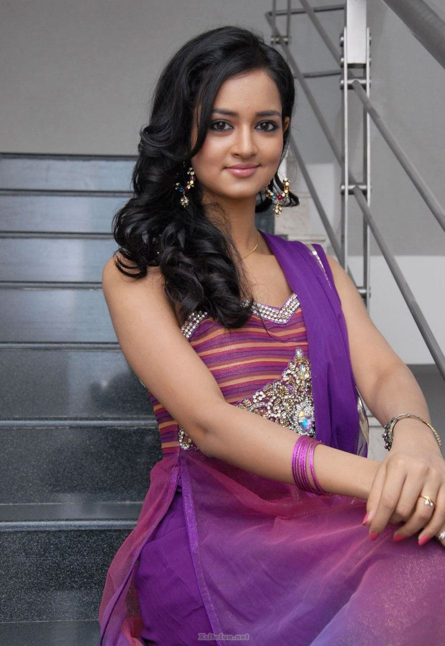 South Actress Shanvi Purple Dress Pics  XciteFunnet