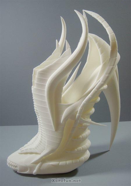 Unusual High Heel 3D Printed Shoes By Janina Alleyne