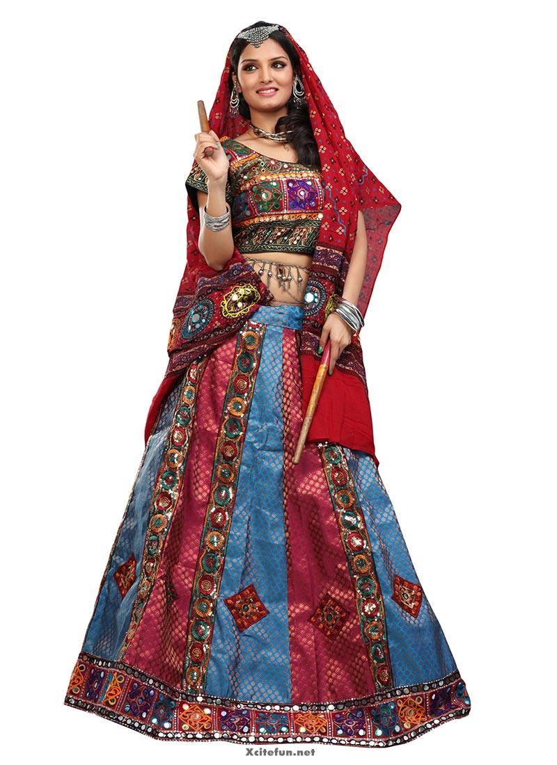 Traditional Multi Colored Wedding Indian Chaniya Cholis