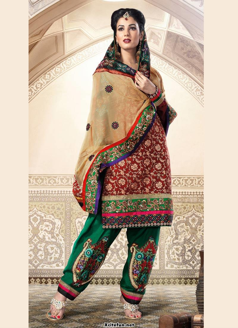 Indian Embroidery Traditional Salwar Kameez And Frocks