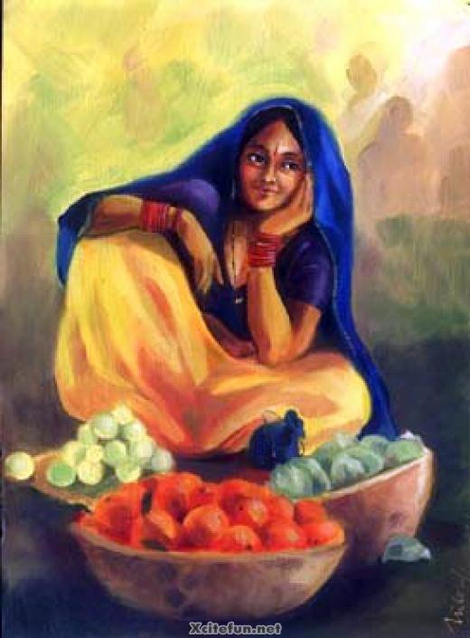 Beautiful Indian Girl Hd Wallpapers For Mobile Masterpiece Oil Painting Fine Arts Xcitefun Net