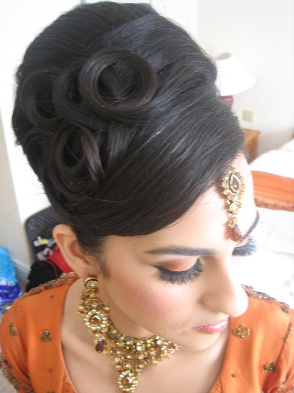 Asian Bridal Bun And Tail Hairstyle  XciteFunnet