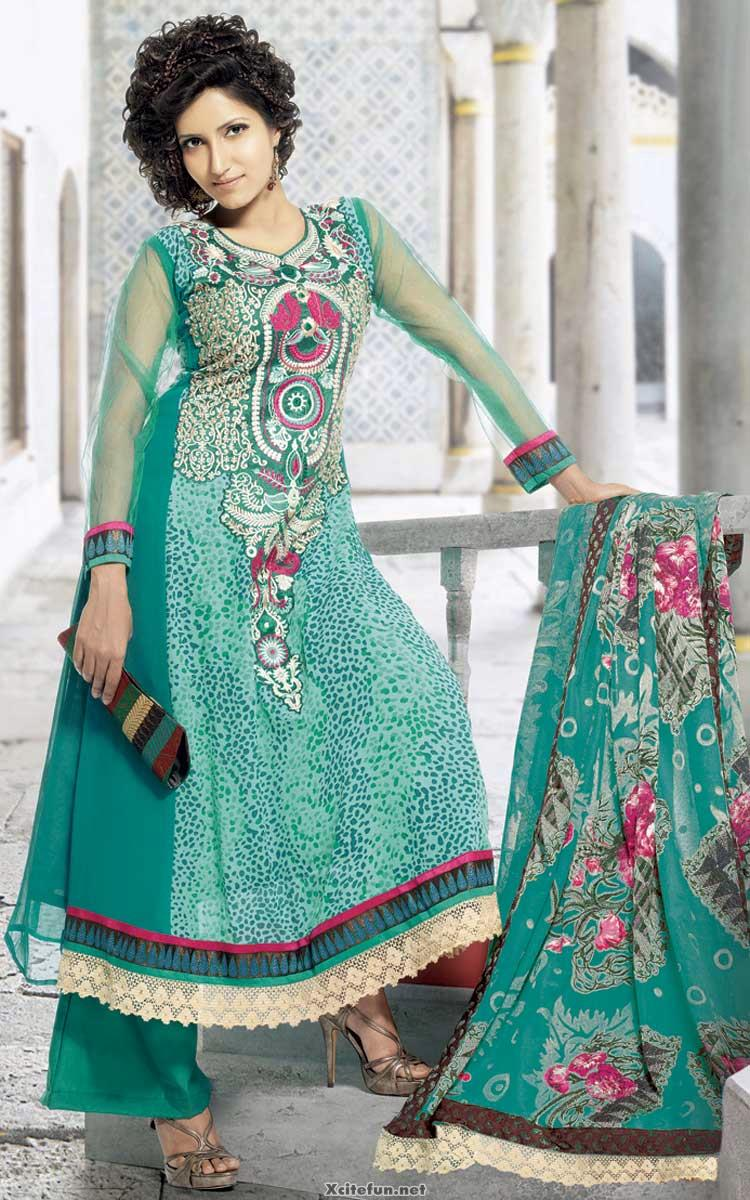 Sweet Cute Wallpapers With Quotes Indian Embroidered Anarkali Chooridar Frock Suit