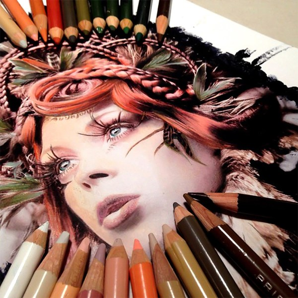 Amazing Pencil Color Paintings