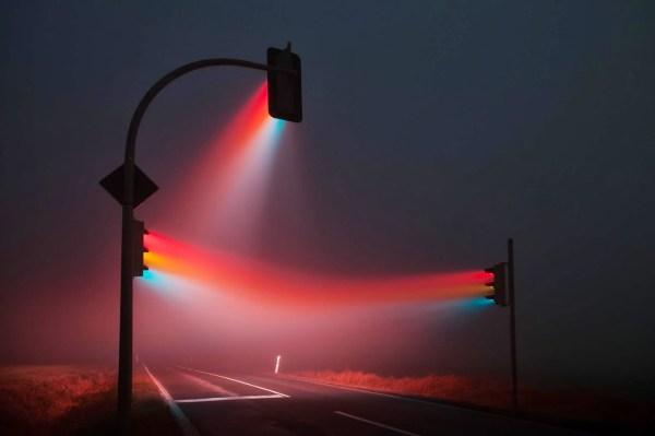 Traffic Light Long Exposure Photography