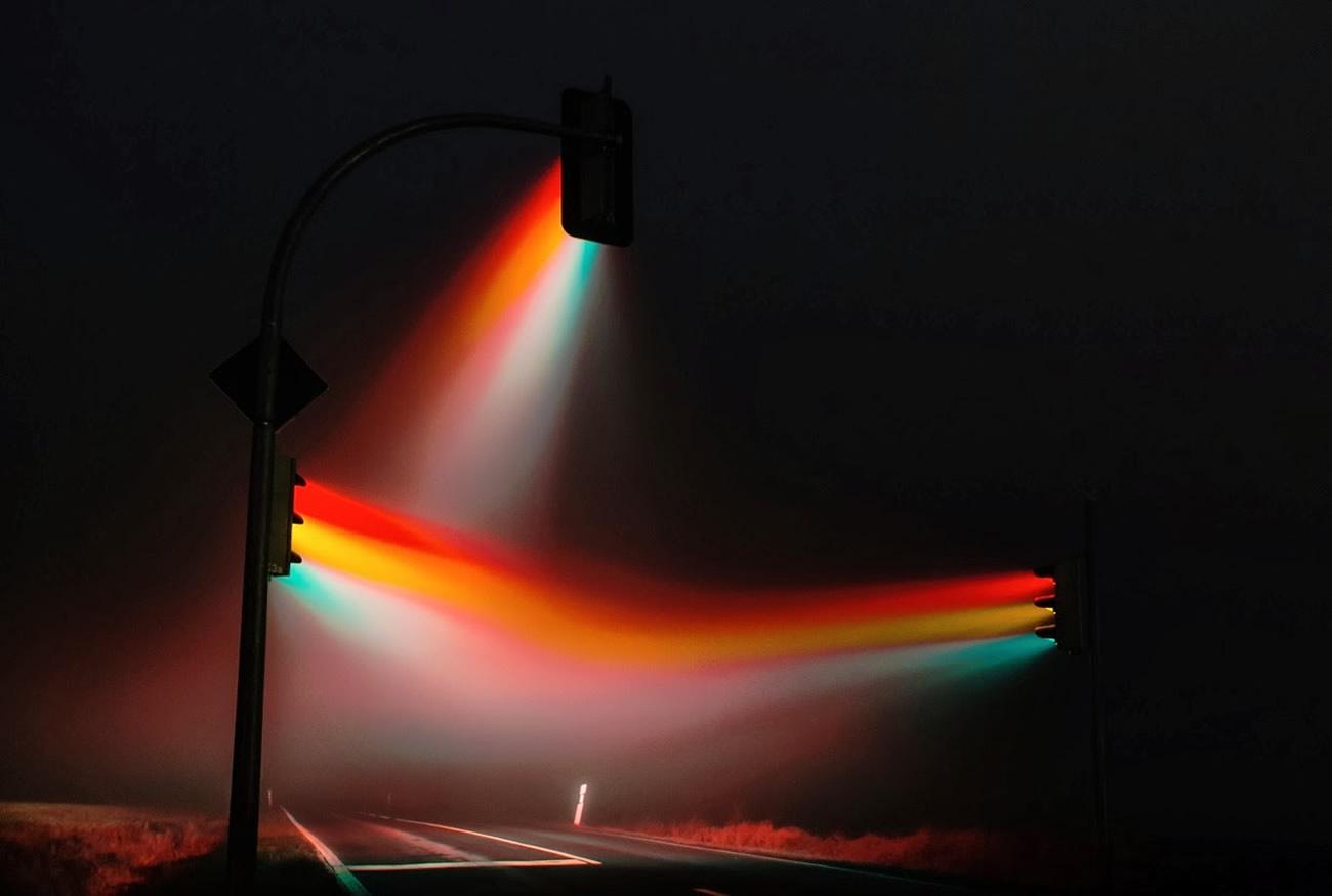 Amazing Road Signal LED Light Display Art  XciteFunnet