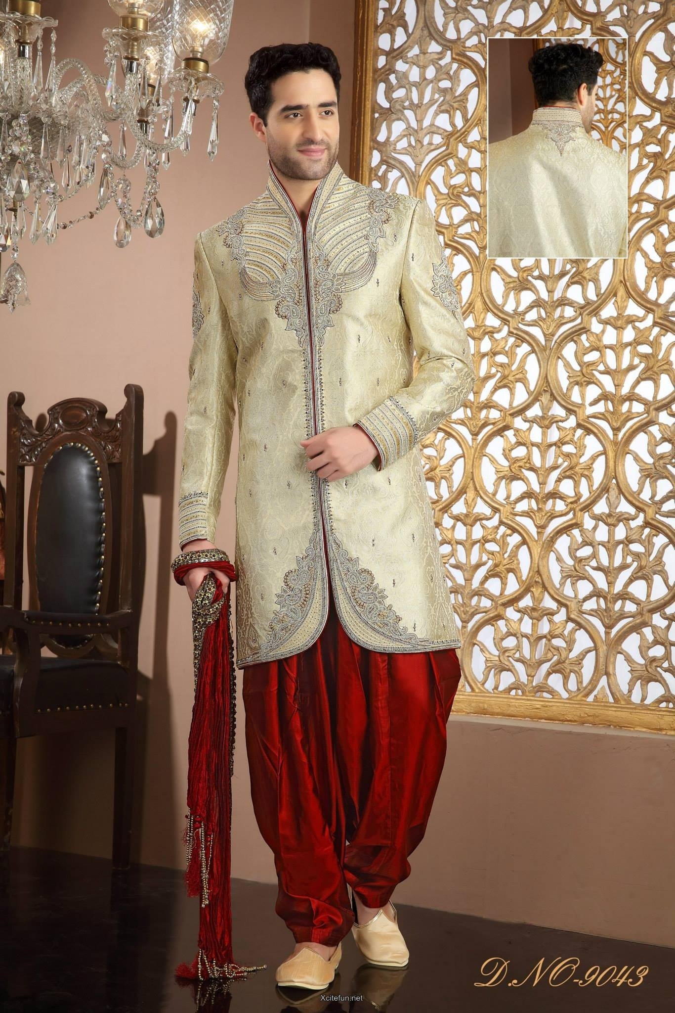 Groom Wedding day Sherwani Collection  XciteFunnet
