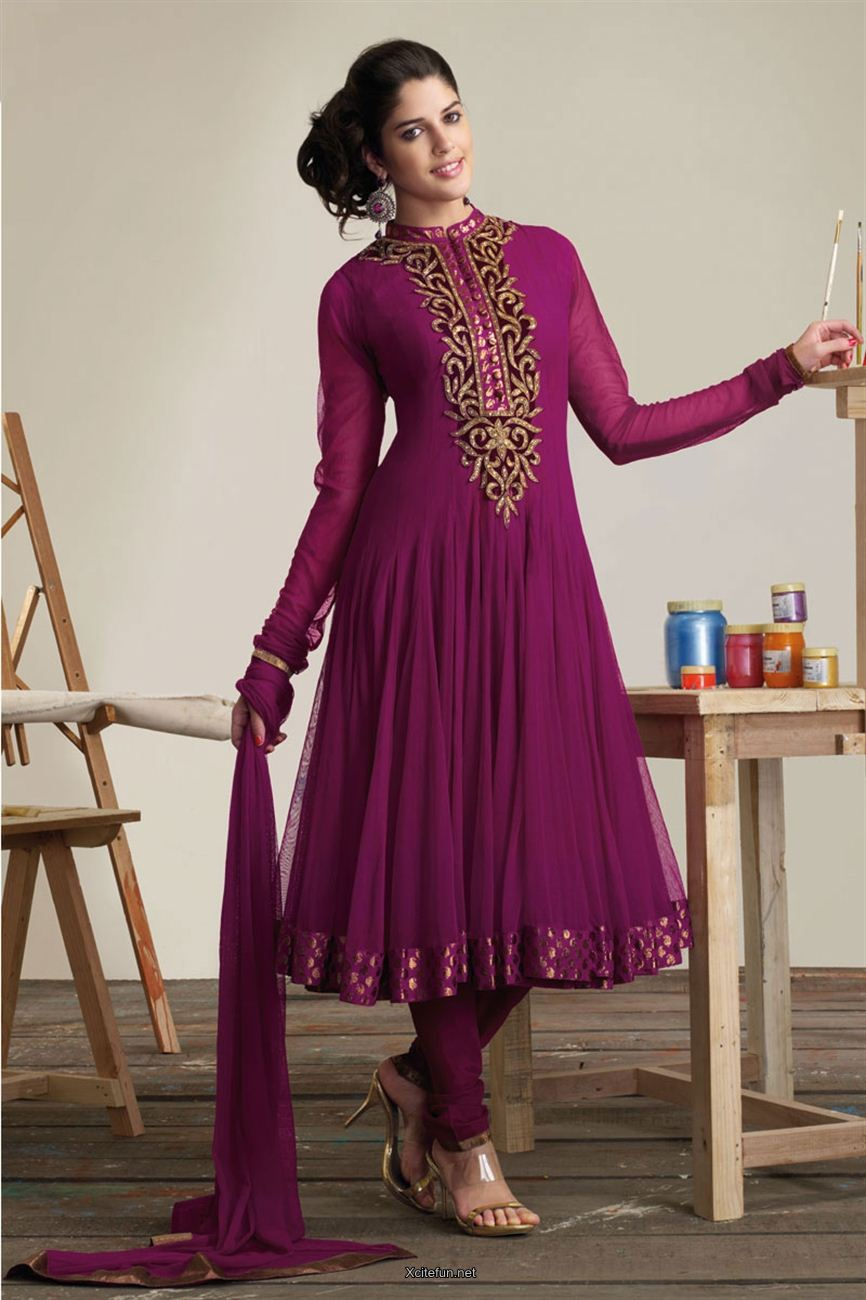 Lady Wear Formal Frock With Churidar Pajama  XciteFunnet