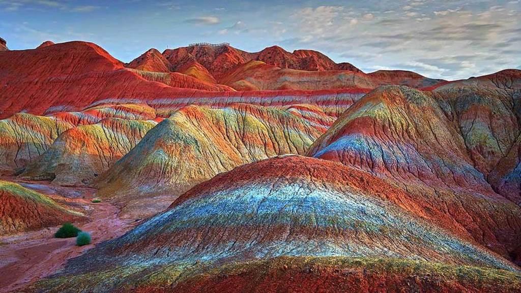 Fall Colors Computer Wallpaper Zhangye Danxia Geological Park China Images N Detail