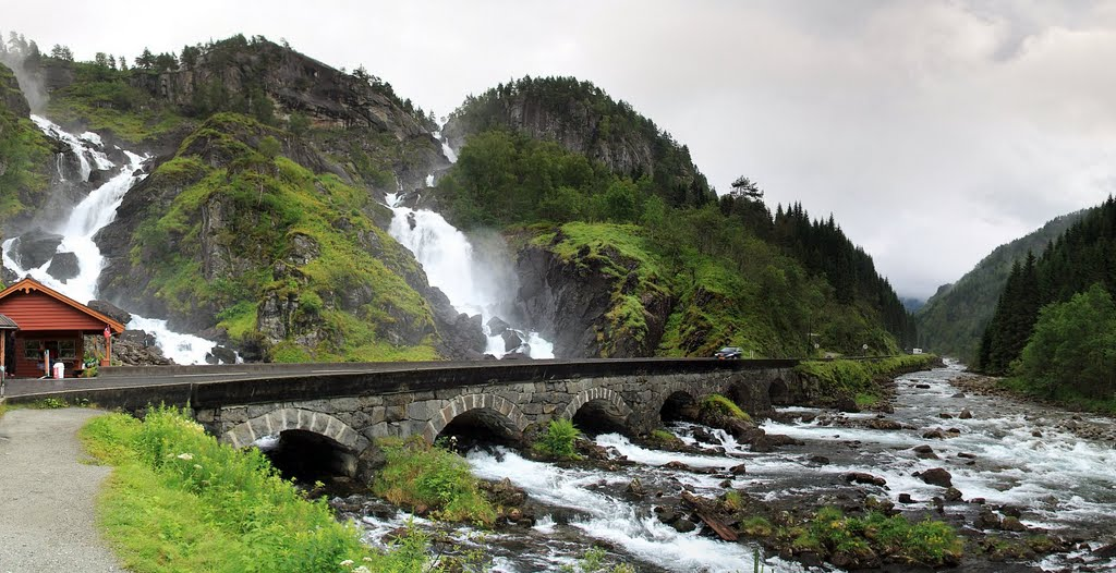 Cool Fall Wallpaper Latefossen Waterfall Norway Images Xcitefun Net