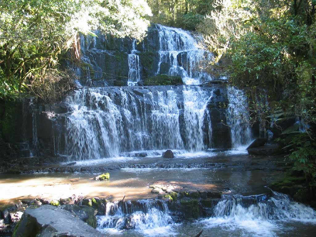 Funny Wallpapers Nature With Small Quotes Purakaunui Falls Cascading Waterfall Of New Zealand