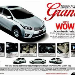 New Corolla Altis Grande Fitur Grand Veloz 1.3 Toyota Price In Pakistan 2014 Car
