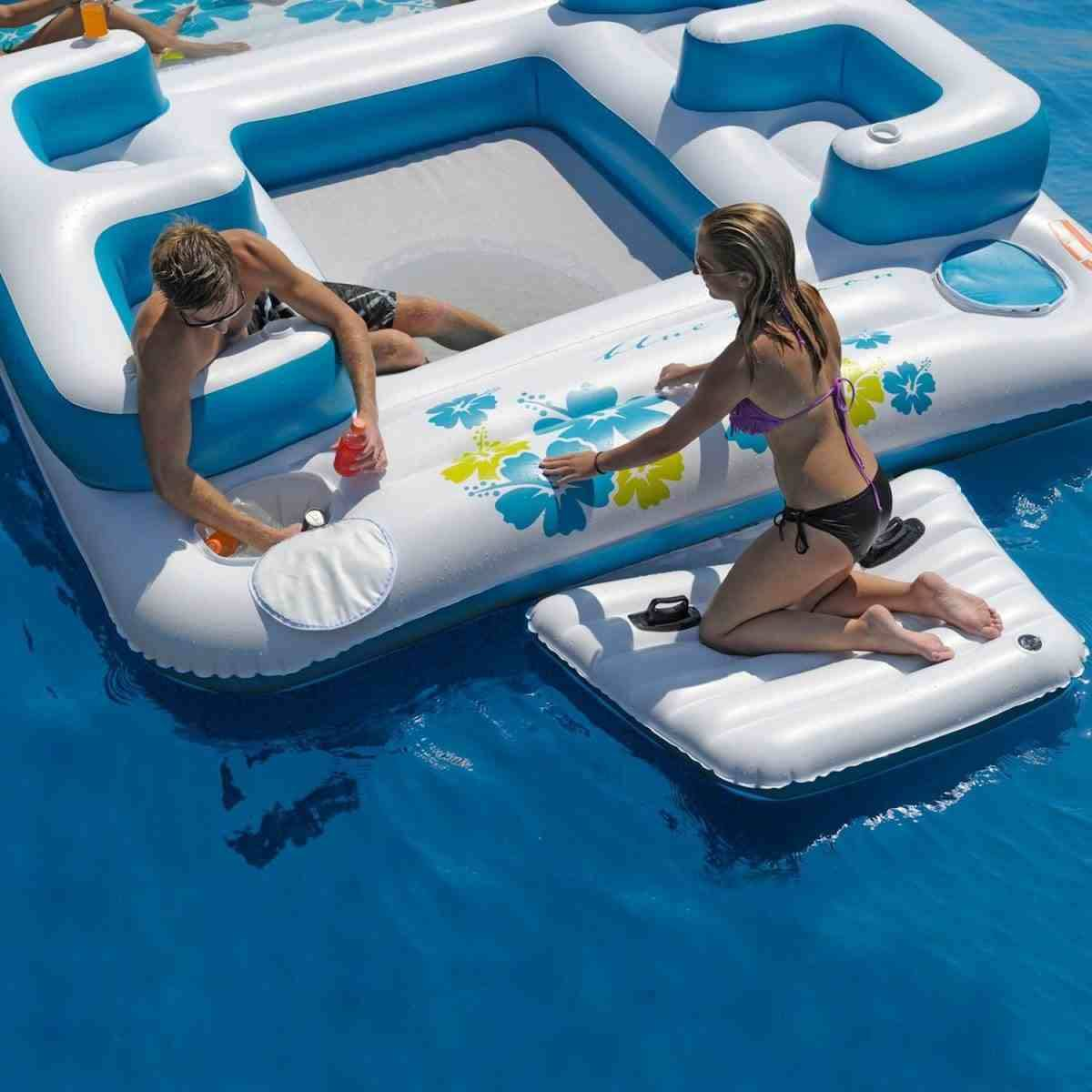 Inflatable Floating Island For Pool Parties  XciteFunnet