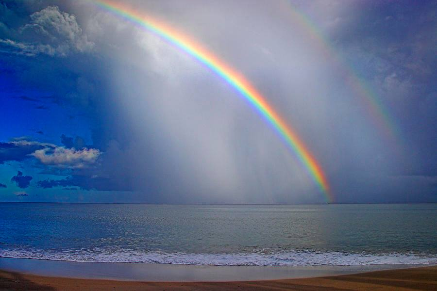 Cute Love Quotes Wallpaper For Mobile Rainbow Over Sea Xcitefun Net