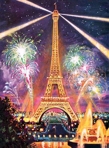 Cute Quotes Wallpapers Hd Eiffel Tower Fire Works New Year Celebration Xcitefun Net