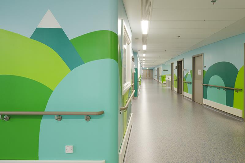 Joyful Artwork On The Walls of Children Hospital