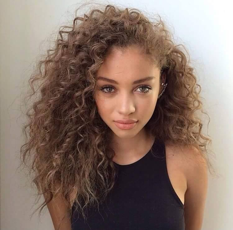Naturally Curly Hairstyle For Girls