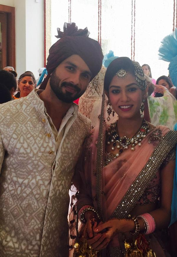 Shahid Kapoor And Mira Rajput Wedding Pictures  XciteFunnet