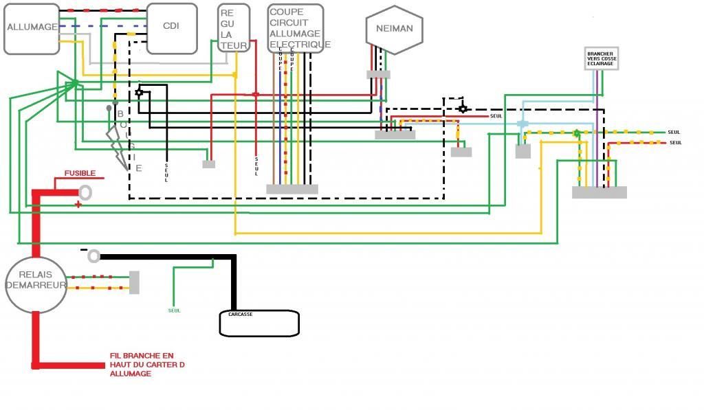 110cc Wiring Diagram Chinese Quad Faisceau 233 Lectrique Predator 110cc
