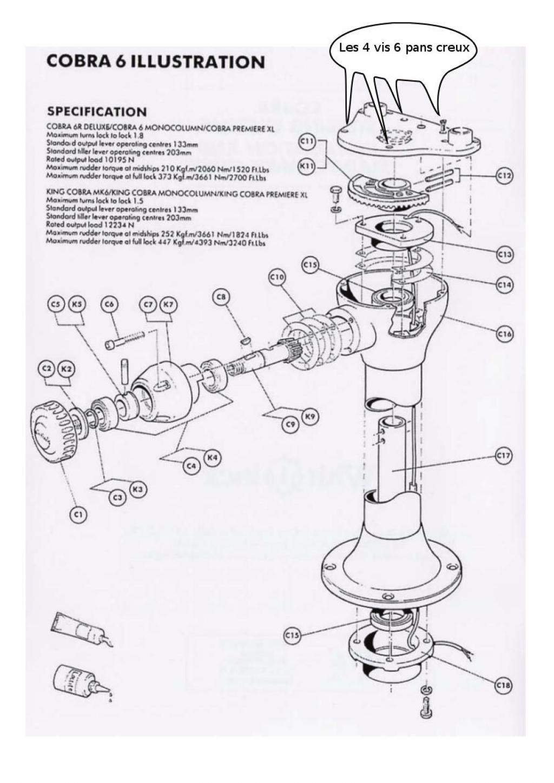 le bar du port :: Démontage barre à roue Cobra 6