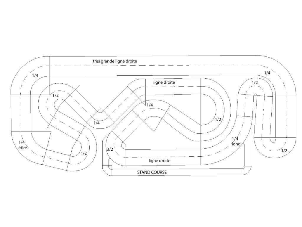 Rc Drift Mauguio Traces Des Differents Circuit