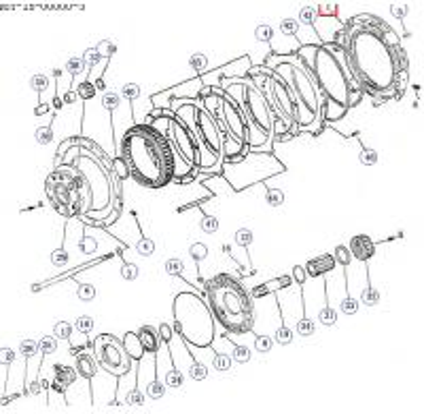 bulldozer transmission case parts oil cylinder body 16y-15