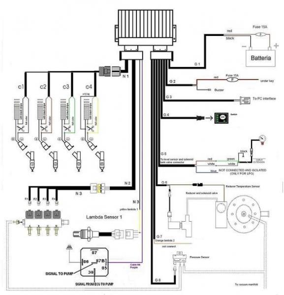 Details of LPG CNG ECU for Bi-fuel system on 3/4 cylinders