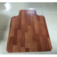 Details of Custom Rolling 45 x 53 Wood Floor Chair Mat For
