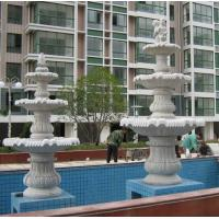 Details of Natural stone fountain in garden - 104231242