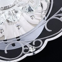 Modern Acrylic Crystal LED Ceiling Pendant Light Lamp ...