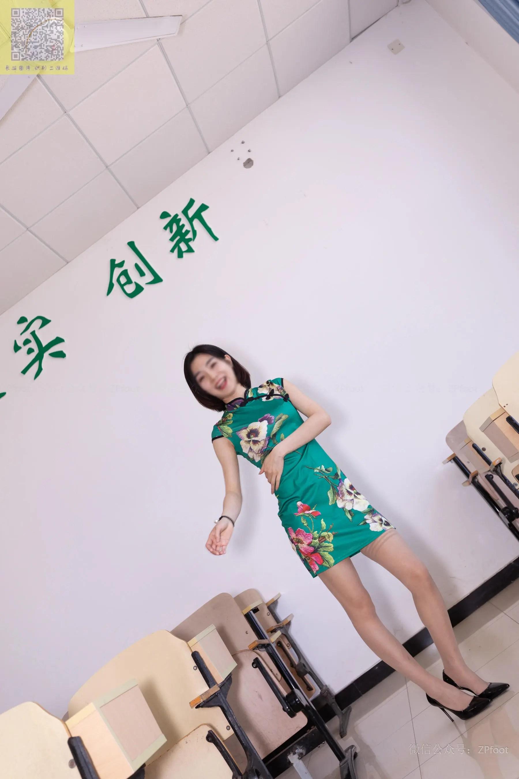 图片[9] - [山茶摄影LSS] NO.089 小阳阳的旗袍筒袜 写真套图[99P] - 唯独你没懂