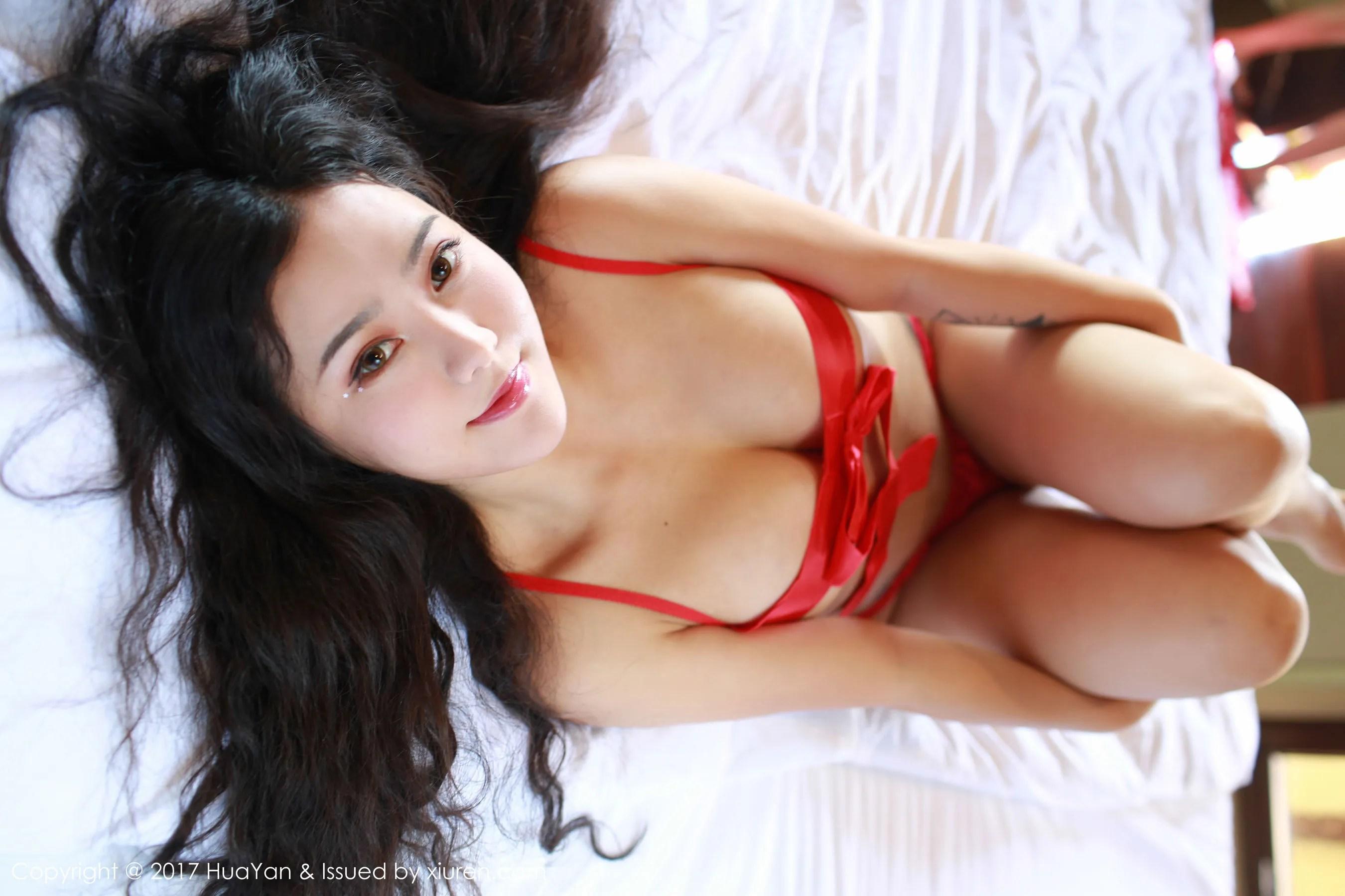 图片[5] - Manuela玛鲁娜《衬衫湿身+红色丁字裤》 [花の颜HuaYan] VOL.028 写真集[35P] - 唯独你没懂