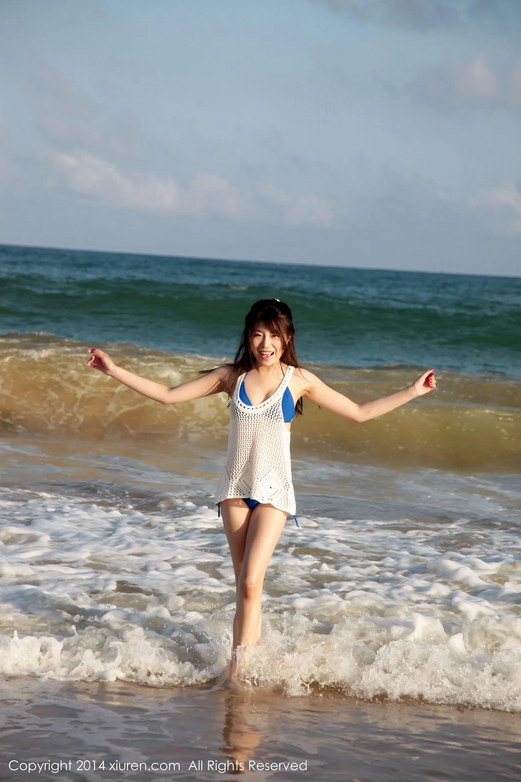 图片[12] - 许诺Sabrina《海边小清新系列》 [秀人网XiuRen] No.167 写真集[53P] - 唯独你没懂