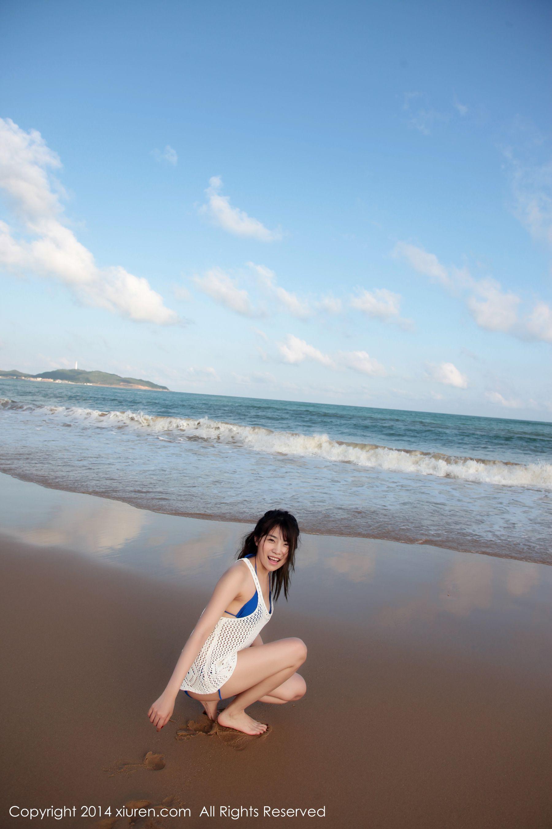 图片[11] - 许诺Sabrina《海边小清新系列》 [秀人网XiuRen] No.167 写真集[53P] - 唯独你没懂